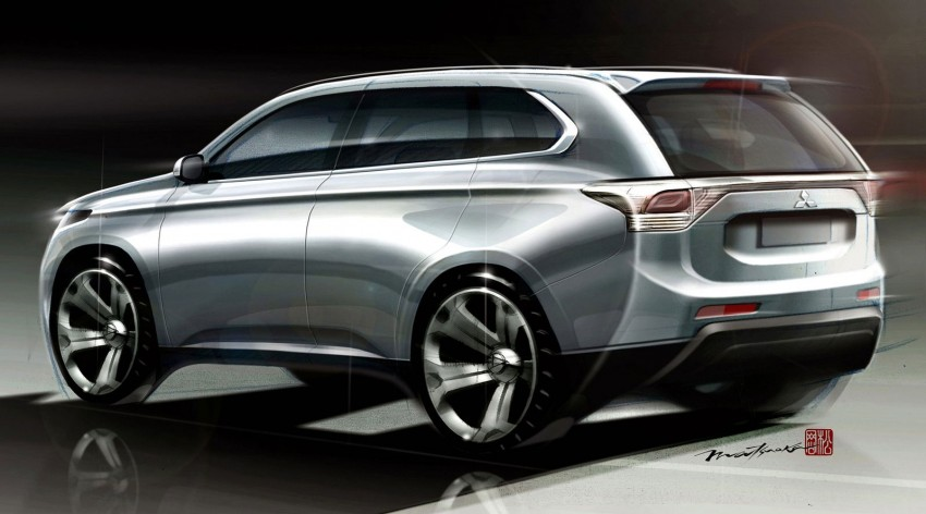 Mitsubishi to show Outlander Plug-in Hybrid EV at Paris – first 4WD electric car in production Image #113514