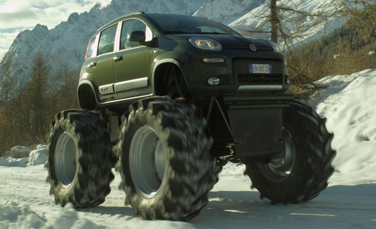 Fiat Panda Monster Truck Big Wheels Keep On Turning Image