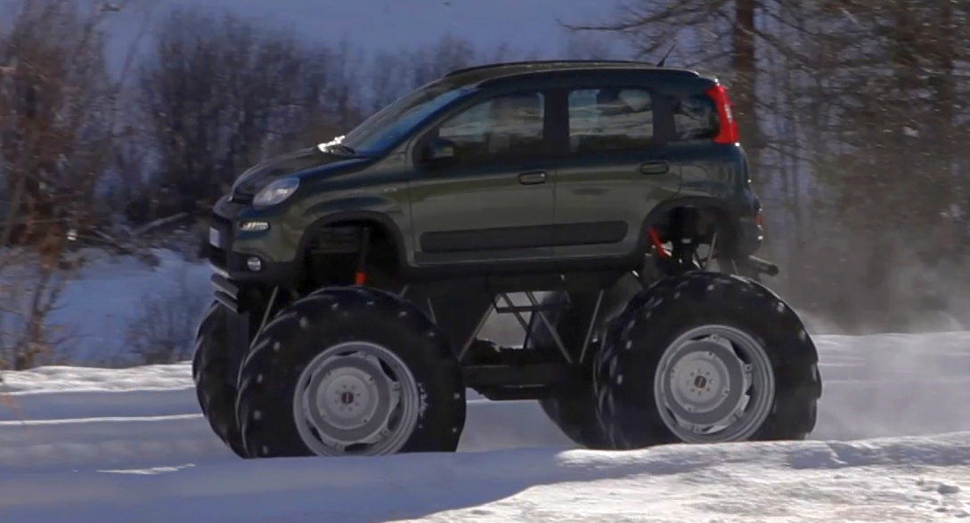 Fiat Panda Monster Truck Big Wheels Keep On Turning