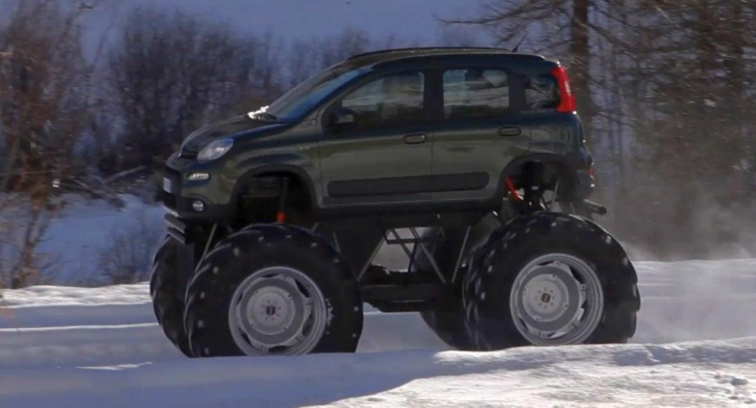 Fiat Panda Monster Truck Big Wheels Keep On Turning