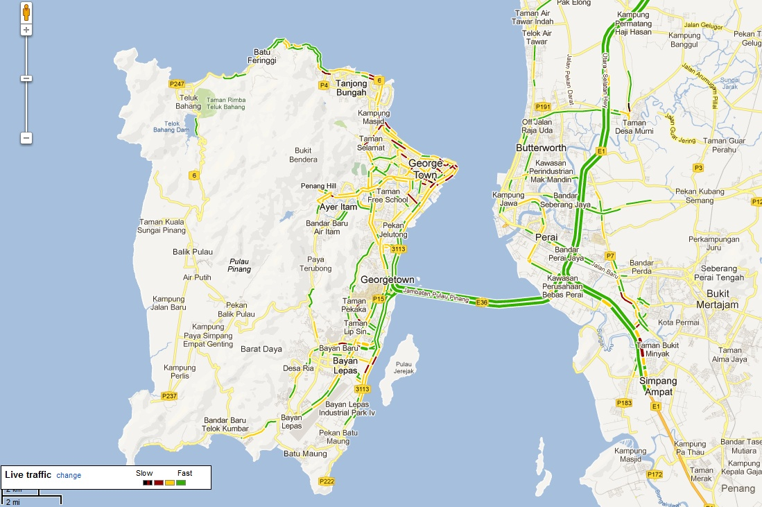 Google Maps Traffic layer now offers realtime traffic condition