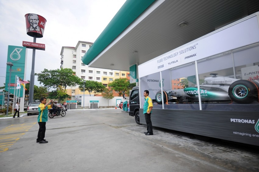 Petronas roving F1 car kicks off Malaysian GP activity Image #86667