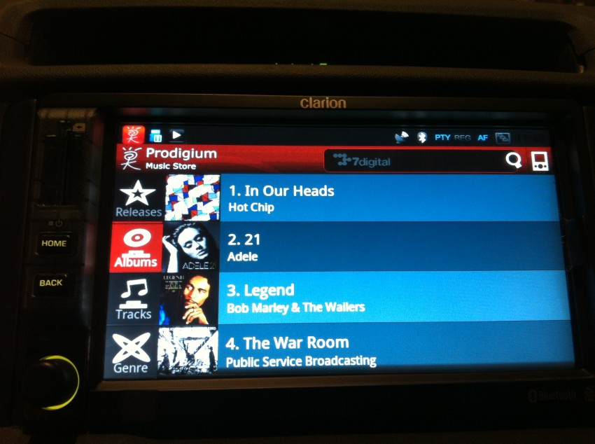 Prodigium Mobile opens infogo.com Music Store: coming to Clarion Android car stereos soon! Image #112777