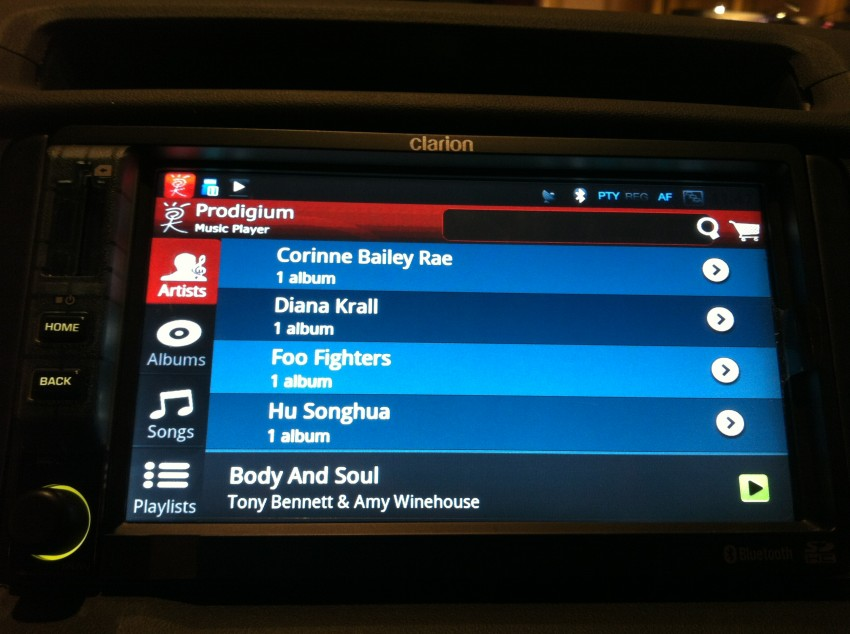 Prodigium Mobile opens infogo.com Music Store: coming to Clarion Android car stereos soon! Image #112783