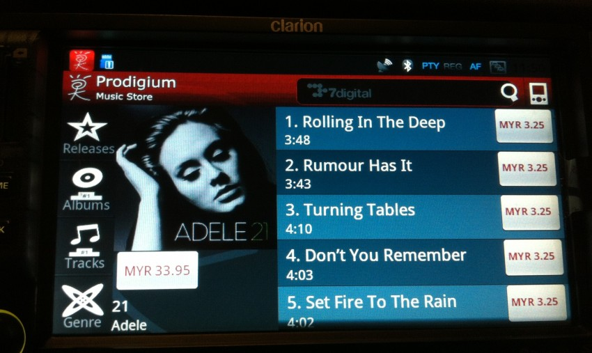 Prodigium Mobile opens infogo.com Music Store: coming to Clarion Android car stereos soon! Image #112780