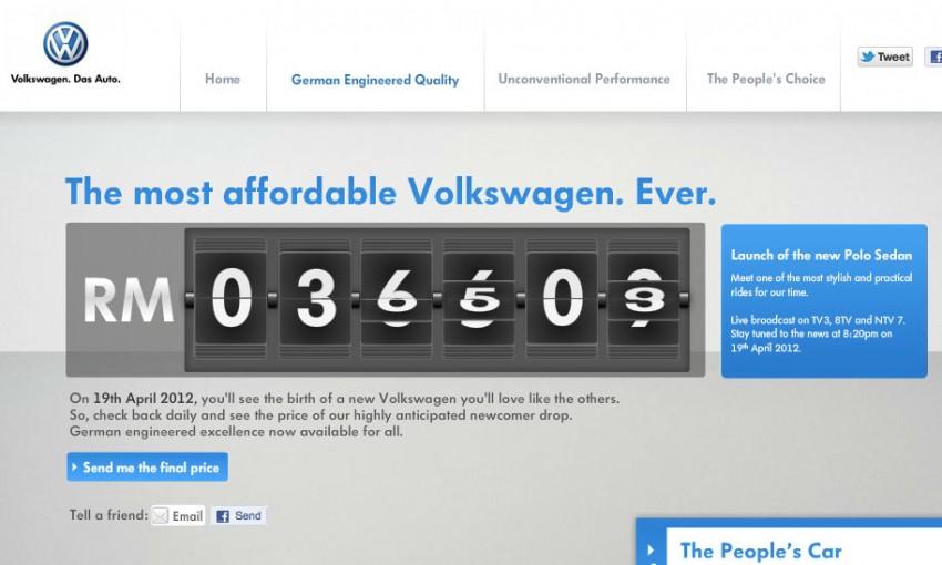 Volkswagen teases the Polo Sedan – full details tomorrow! Image #101300