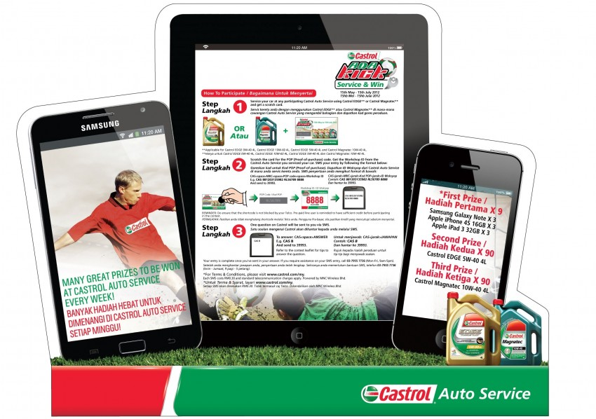 Castrol <em>Ada Kick</em> Service & Win – win a Samsung Galaxy Note, iPhone 4S or New iPad weekly Image #115519