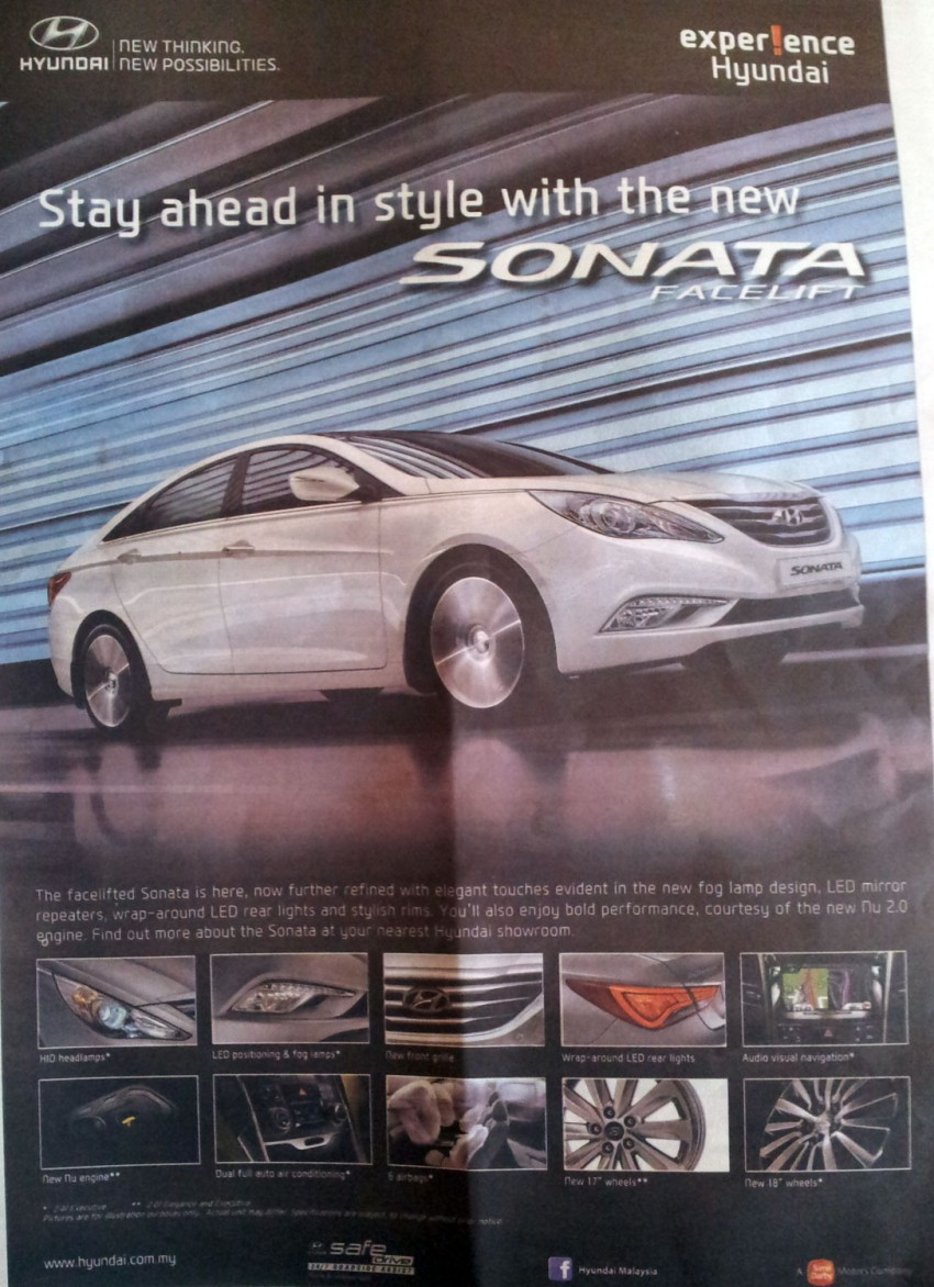 Hyundai Sonata YF Facelift now on sale in Malaysia Image #148436