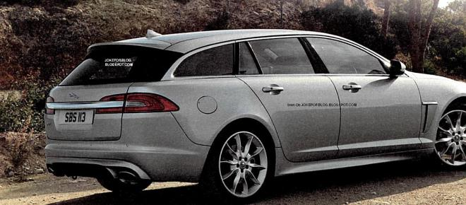 LEAKED: Undisguised rear image of Jaguar XF Sportbrake Image #89921