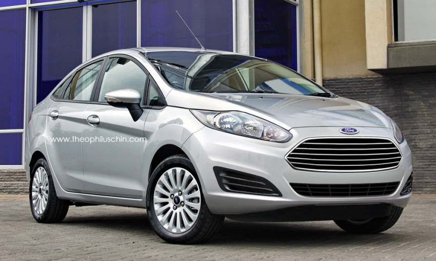 Ford Fiesta sedan facelift – rendering of the new front Image #110942