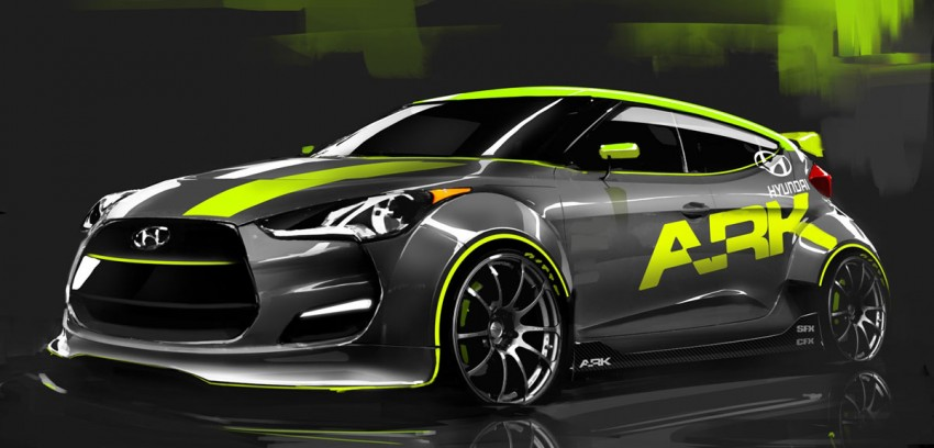 SEMA 01: ARK Performance 210 hp Hyundai Veloster turbo Image #70871
