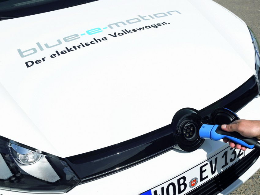 Electric Volkswagen Golf Blue-E-Motion prototype – a preview test drive in Wolfsburg, Germany Image #127798