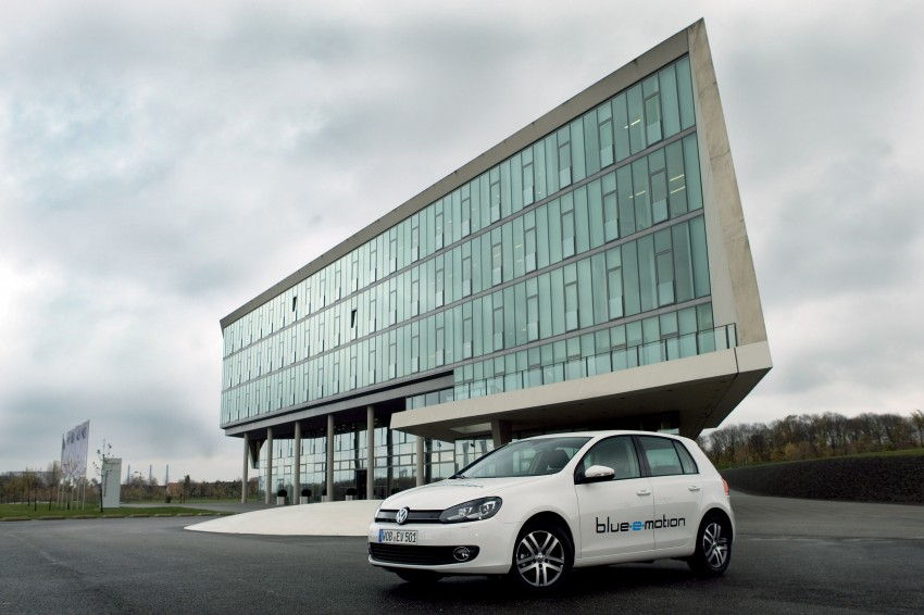 Electric Volkswagen Golf Blue-E-Motion prototype – a preview test drive in Wolfsburg, Germany Image #127799