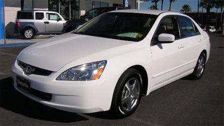 Pimped Out White Honda Accord