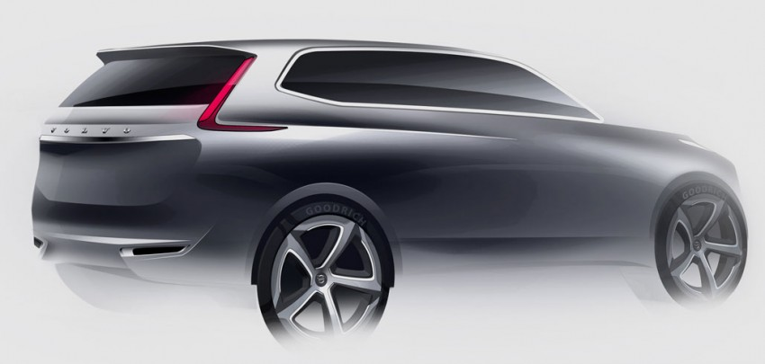 Next gen Volvo XC90 sketches surface with new face Image #77594