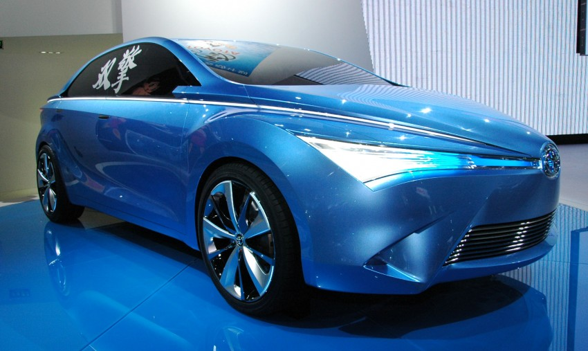 Toyota Yundong Shuangqing Hybrid and Dear Qin sedan and hatch concepts make their mark in Beijing Image #103051