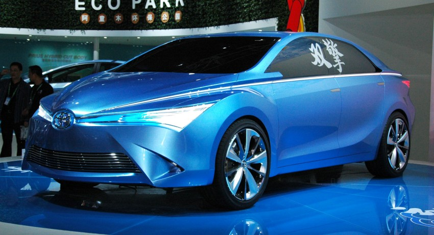 Toyota Yundong Shuangqing Hybrid and Dear Qin sedan and hatch concepts make their mark in Beijing Image #103048