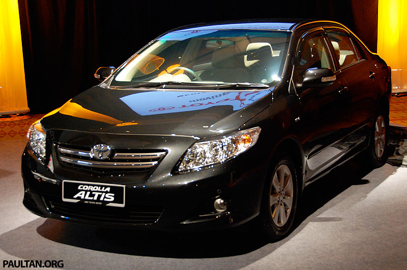 2008 Toyota Corolla Altis launched in Malaysia!