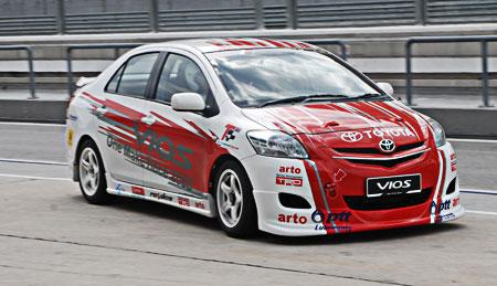 Toyota Trd Vios Test Drive At The Sepang F1 Circuit