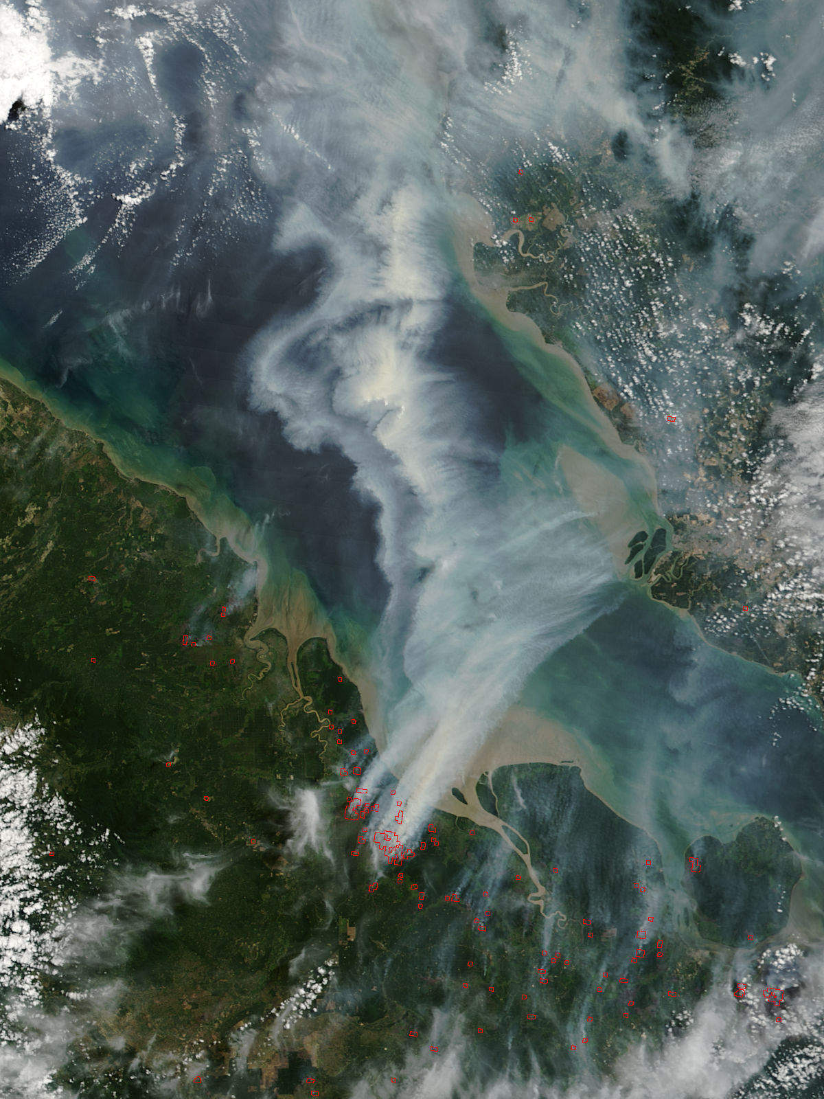 Local Market Tool >> Sumatra Fire Satellite Photo