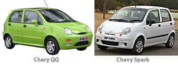 Chevrolet Spark and Chery QQ