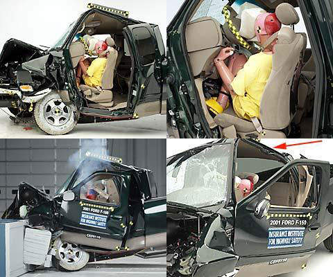 The Ford F 150 Is A Diffe Story Altogether As You Can See Central Safety Cell Totally Ed Look At How Crash Test Dummy Sandwiched
