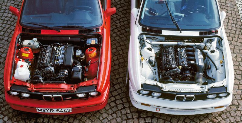 The history of the bmw m3 e30 m3 e30 m3 road car and track car engine bays click to enlarge publicscrutiny Choice Image