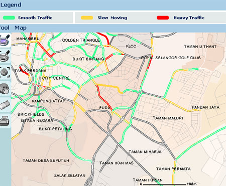 ITIS Traffic Congestion Map