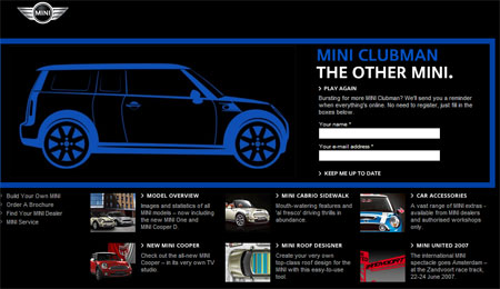 MINI Clubman Teaser Site