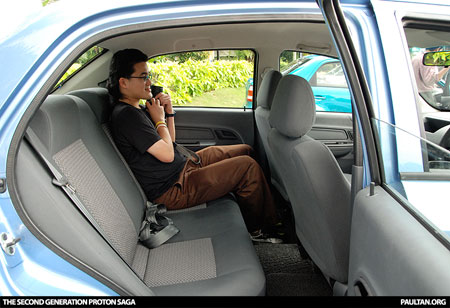 New Proton Saga - Shannon in the back seat