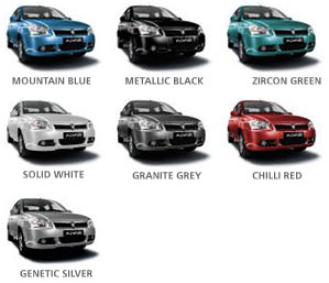 Proton Saga Colours