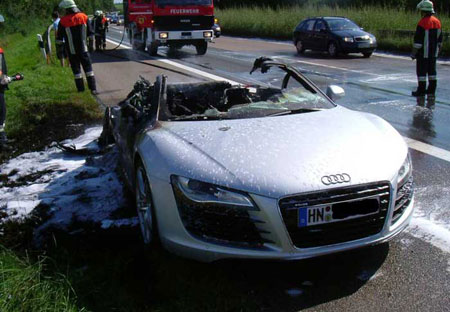 Cause Of Burning Audi RS Prototype Revealed To Be Overheating Twin - Audi rs8