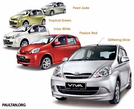 2 new colours for the Perodua Viva