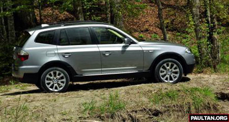 Facelifted BMW X3