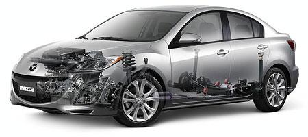 2010 Mazda 3 Sedan Chassis