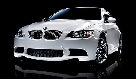Alpine White BMW M3 Front