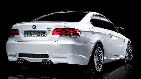 Alpine White BMW M3 Rear