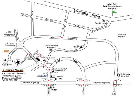 German Motors Map