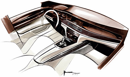BMW 7-Series Sketch Art
