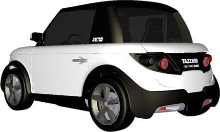 tazzari zero electric car weighs 542kg. Black Bedroom Furniture Sets. Home Design Ideas