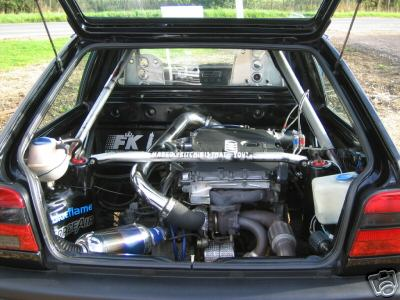 Mid Engined Rear Wheel Drive Volkswagen Polo Mk3