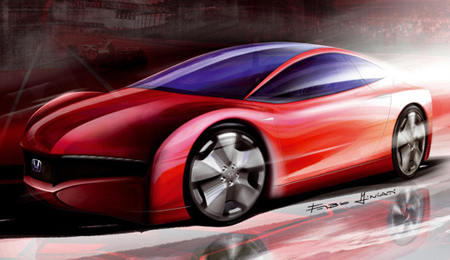 Honda Small Hybrid Sports Concept Sketch