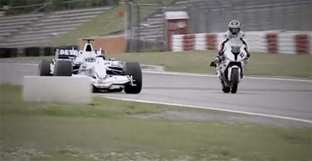 F1 Car vs Bike