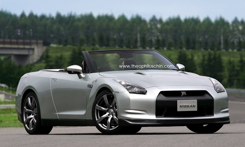Photoshopped Nissan Gt R Convertible