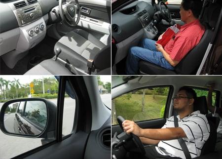 Perodua Alza First Row