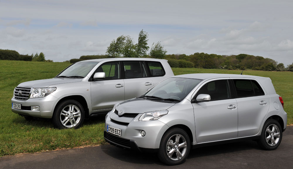Toyota Urban Cruiser Photographed Next To A Toyota Land Cruiser See