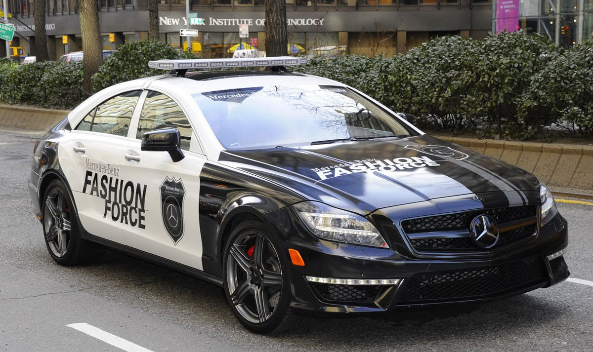 Mercedes cls 63 amg is the fashion police patrol car for Mercedes benz amg clothing