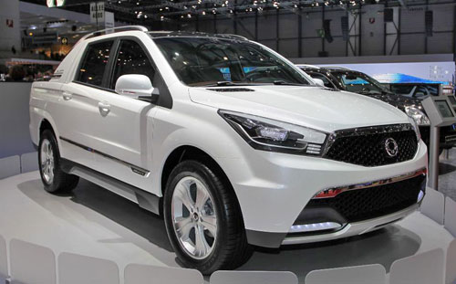 Ssangyong Sut 1 Concept Actyon Sports Gets New Face